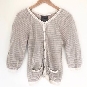 Anthropologie + Guinevere | Linear Gleam Cardigan
